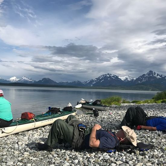 A little R&R in the Alaska Backcountry. #glacierbay #livebig #windycitycrossfit #glacierbaykayaks