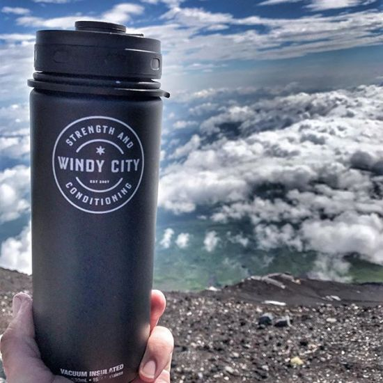 Jeff Campion @campiojr staying hydrated on top of Mount Fuji