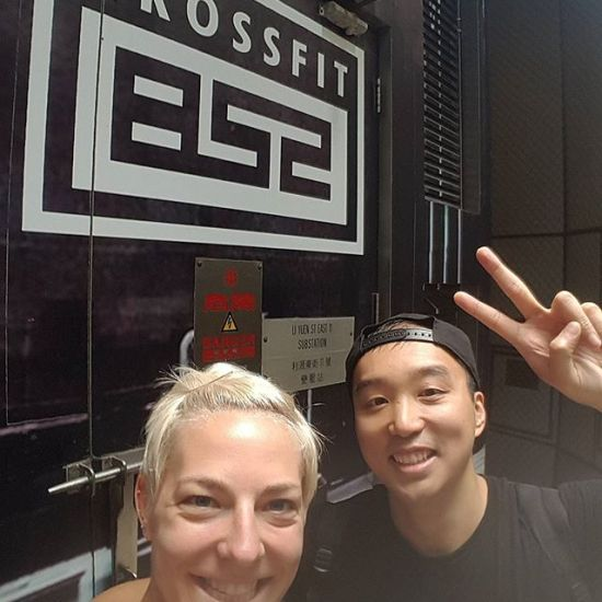 @raymondstagram and I were both in Hong Kong at the same time, so we decided to check out a crossfit class. Thanks,  #crossfit852 !