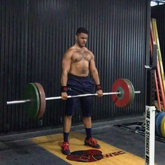 Romanian deadlift finisher - one of my favorites for hamstring development and lat engagement!