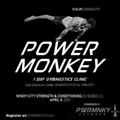 Power Monkey 1-Day Gymnastics Clinic at Windy City Strength & Conditioning